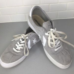 Converse one star gray suede sneakers SZ 8